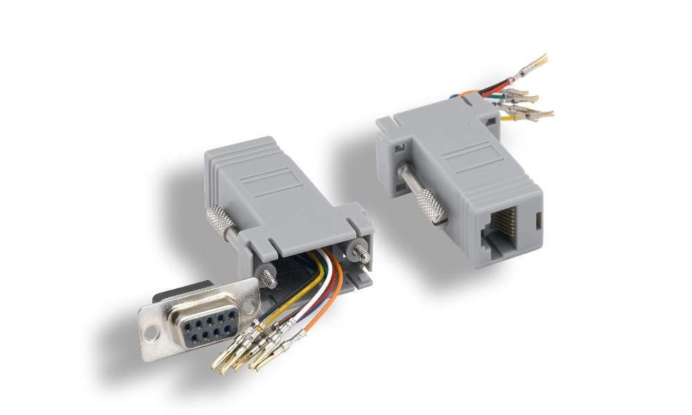 Epson Projector Rs323 To Modular  Rj45  Adapter For A Serial Cable  Aka A Null Modem