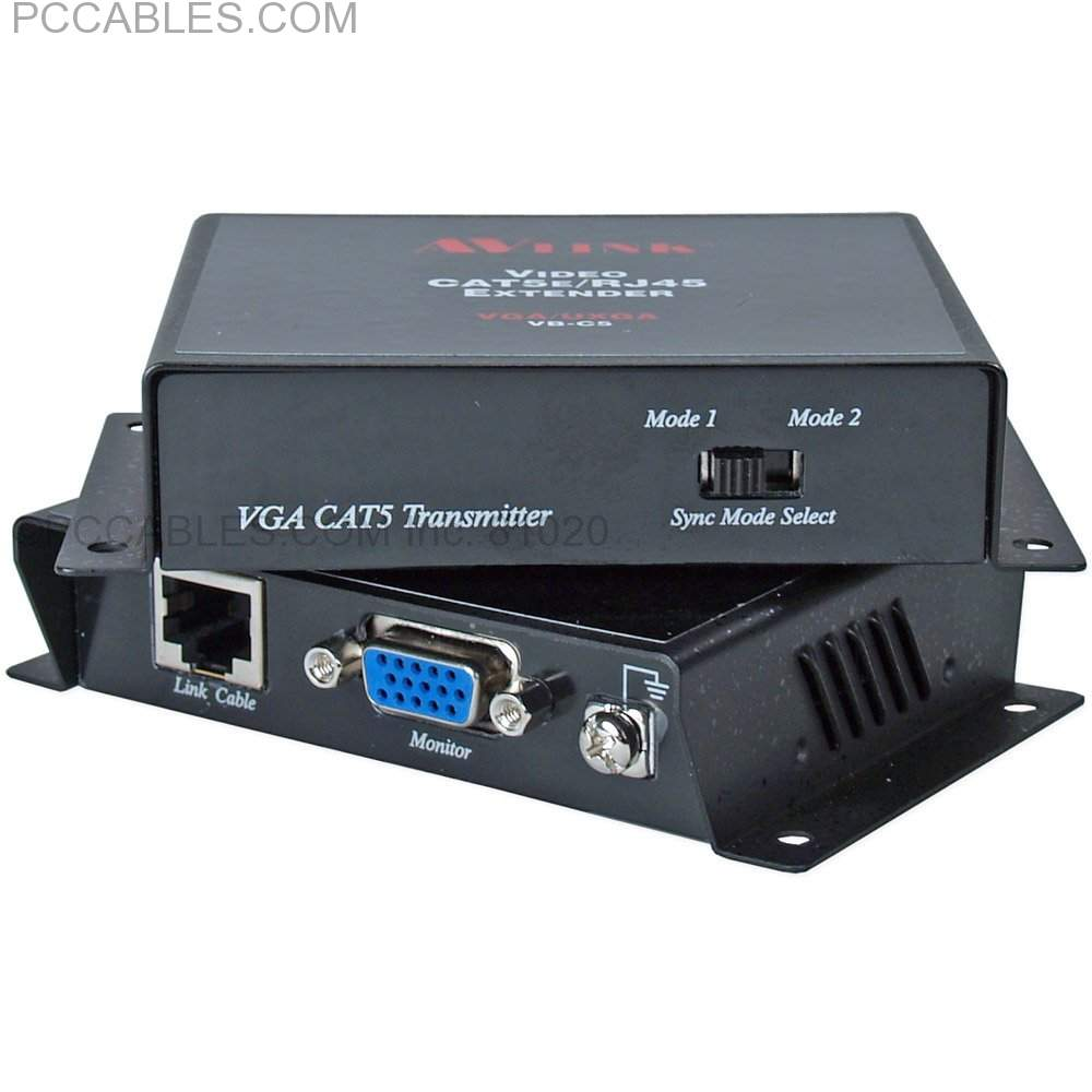 100-Meter VGA/UXGA Over CAT5/RJ45 Extender Kit