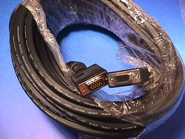 100FT SVGA CABLE MONITOR UL2919 HD15 EXTENSION Male to Female