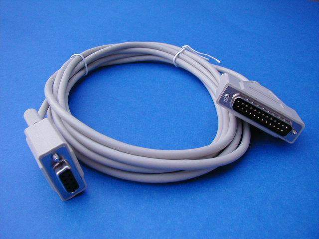 10FT MODEM CABLE DB9-F to DB25-M