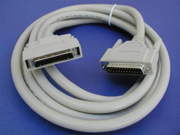 10FT SCSI-II HPDB50-M LATCH TO DB25-M