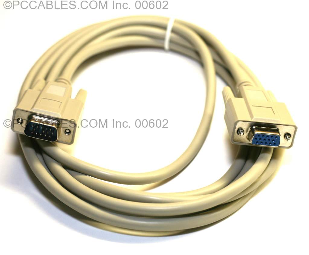 10FT EXTENSION MONITOR CABLE VGA HD15 M-F