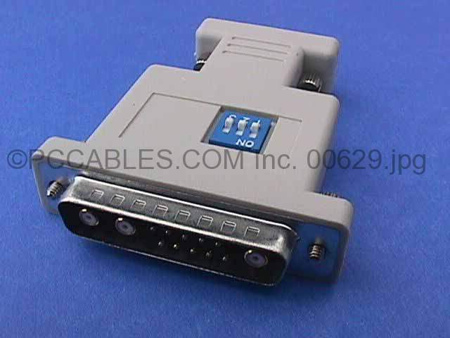 13W3-M TO VGA HD15-F HITACHI INTERGRAPH Switch with Vertical and Horizontal Sync