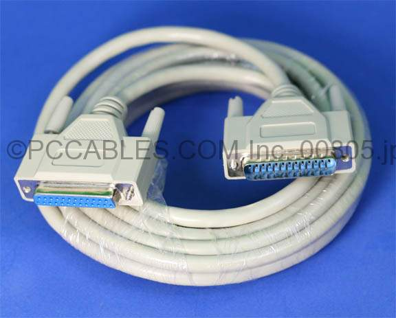 15FT DB25-M to DB25-F Cable
