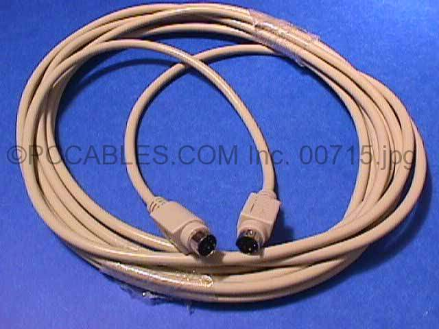 15FT KEYBOARD-MOUSE CABLE MINIDIN6 M-M PS/2 PS2