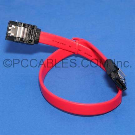 1 Ft SATA DATA CABLE with Latch
