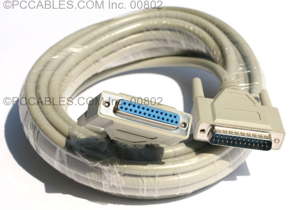 25FT DB25-M to DB25-F Cable