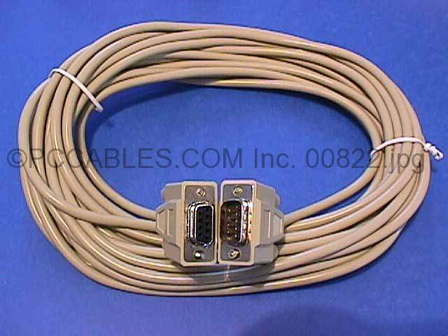 25FT DB9-M to DB9-F SERIAL CABLE