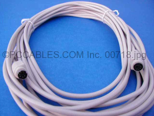 25FT KEYBOARD-MOUSE EXTENSION CABLE DIN6 M-F PS/2 PS2
