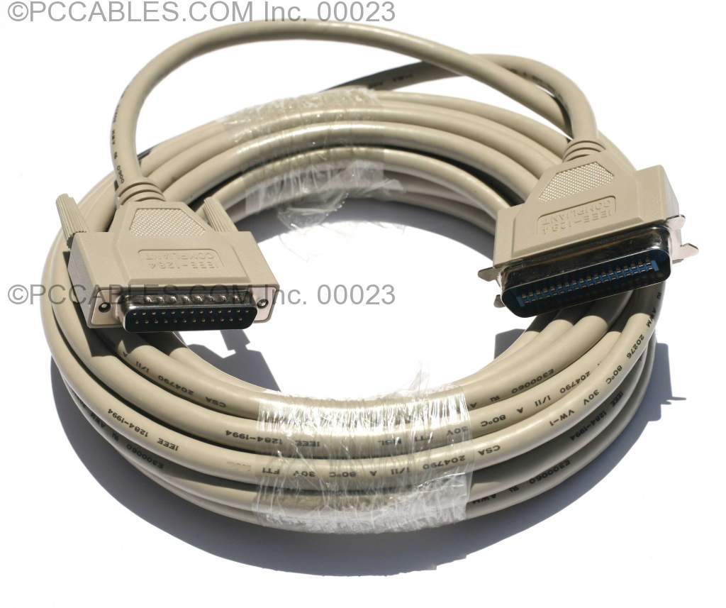 25FT Parallel Printer Cable IEEE-1284 A-B