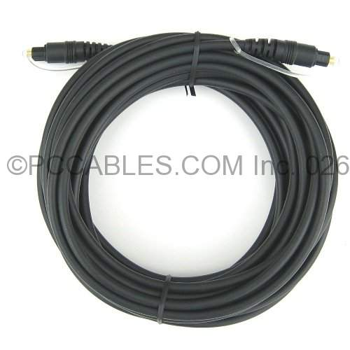 25Ft Toslink Cable 5.0 mm Black