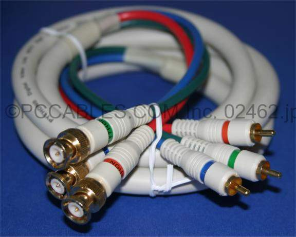 3-RCA to 3-BNC Component Cable Video 6 Feet