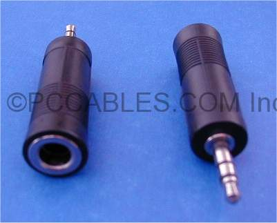 3.5mm STEREO PLUG-M to 1/4 STEREO JACK-F Adapter