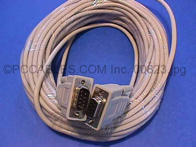 50FT DB9-M to DB9-F SERIAL CABLE