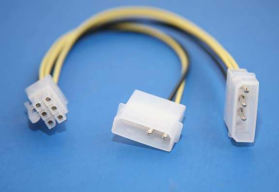 6-PIN Power Cable for PCI-Express Video Cards, 8 Inches Long