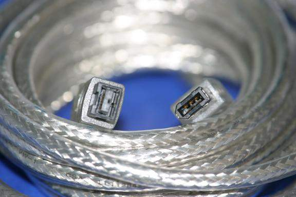 6FT FIREWIRE 1394B BILINGUAL CABLE SILVER 9PIN 6PIN