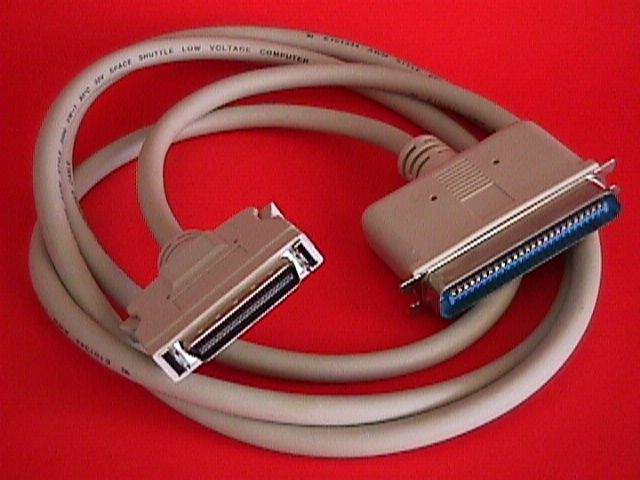 6FT SCSI-II HPCN50-M LATCH TO SCSI-I CN50-M