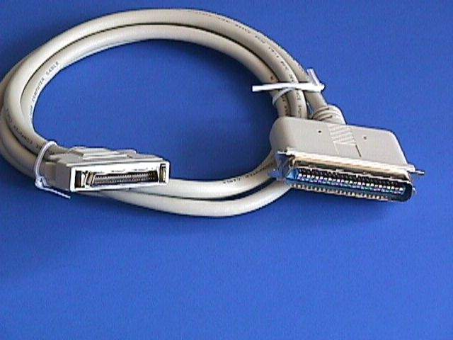 6FT SCSI-II HPDB50-M LATCH TO SCSI-I CN50-M