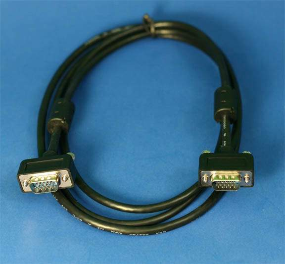 6FT SLIM VGA Monitor Cable Male to Male