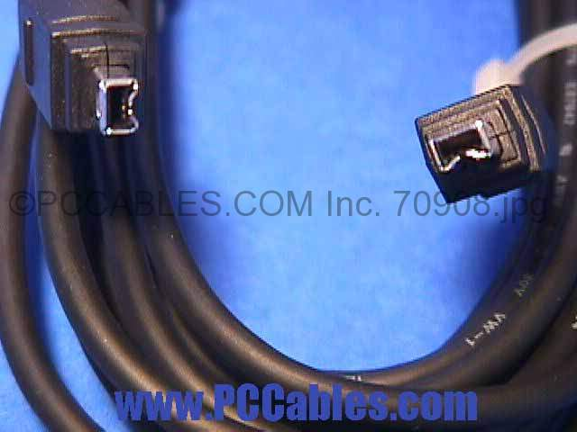 6FT FIREWIRE Cable Black 4PIN 4PIN