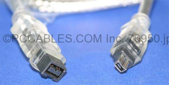 6FT Firewire 1394B Bilingual Cable 9pin 4pin 9p 4p