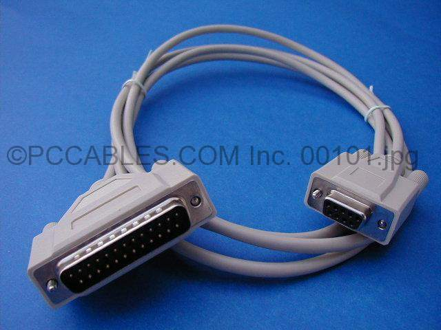 6FT MODEM CABLE DB9-F to DB25-M