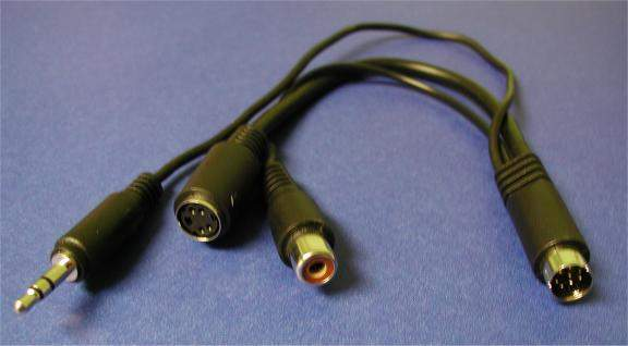 ATI All in Wonder MiniDin8 to 3 Head Video-Audio Cable
