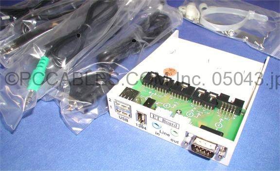 AUDIO-FIREWIRE-USB-SERIAL FRONT 3.50 PANEL