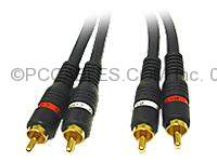 Audio Cable 25FT RCA-M RCA-M Shielded Blue