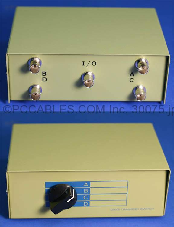 BNC SWITCH BOX ROTARY MANUAL ABCD
