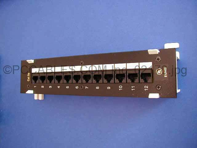 CAT-5E PATCH PANELS 12 PORT 110 Punch Down WALL MOUNT