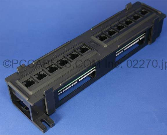 CAT-6 PATCH PANELS 12 PORT 110 Punch Down WALL MOUNT