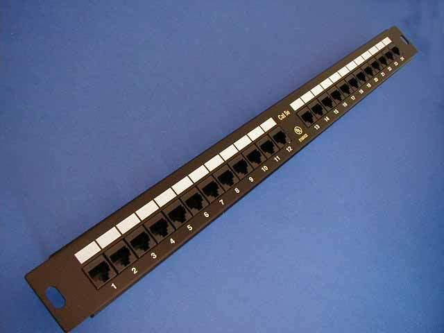 CAT5E PATCH PANELS 24 PORT