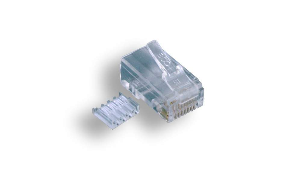 CAT6 RJ45 8P8C MODULAR PLUG CRIMPS for Stranded Round (100 Pack)
