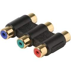 COMPONENT Video Coupler Adapter F-F Triple RCA