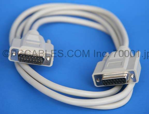 DB15 Extension Cable M-F 6FT