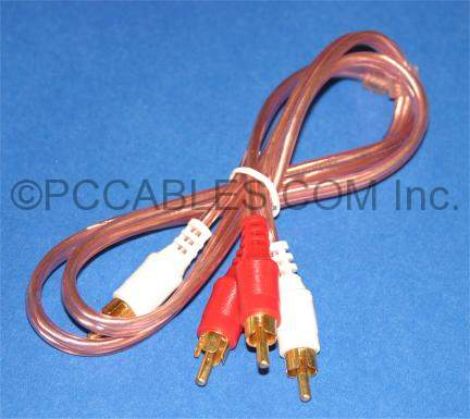 DUAL RCA GOLD AUDIO CABLE 3FT