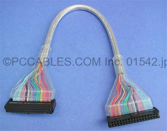 FLOPPY RIBBON CABLE ROUND 1-Device SILVER 12-Inch