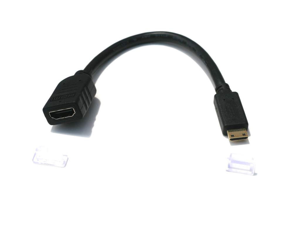 HDMI Mini to HDMI Female Cable 8 inch