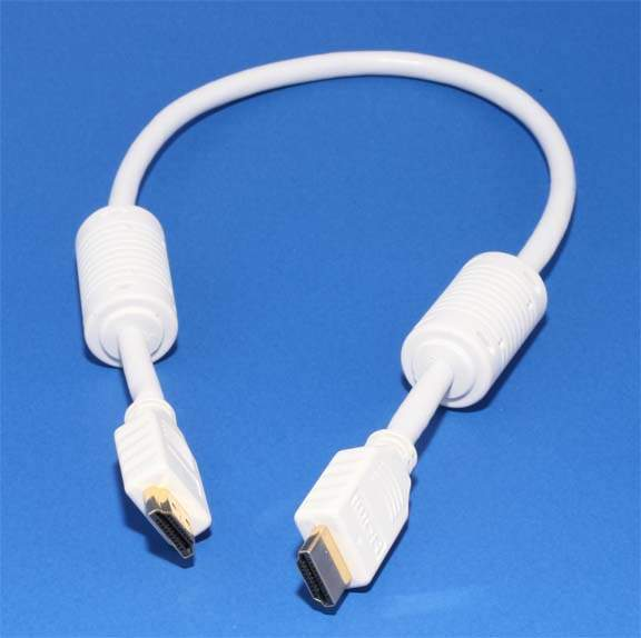 HDMI to HDMI Cable Premium White 1.5FT Certified