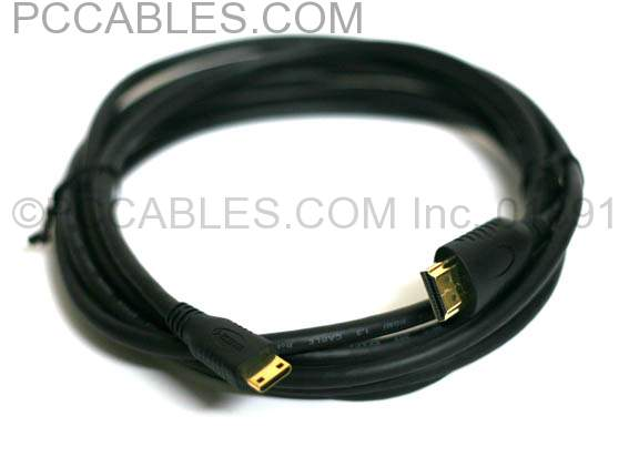 HDMI A to HDMI 1.4 Type-C Premium Cable 10FT Certified