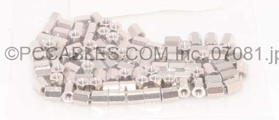 HEX NUT 4-40 Cable Connecting Nuts (100 PACK) 5.9mm