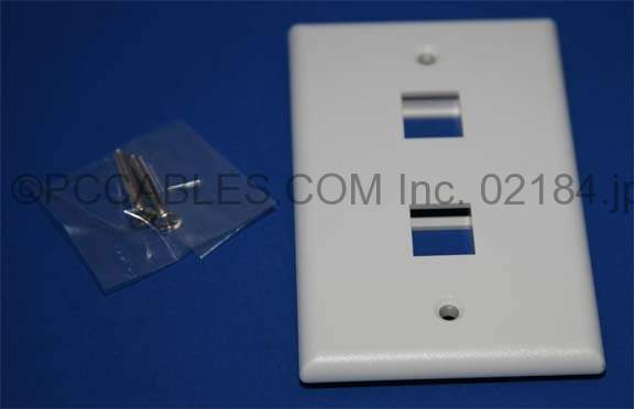KEYSTONE Wall PLATE 2 HOLE WHITE