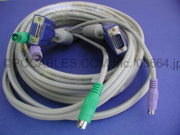 KVM Cable 15FT Video M-F