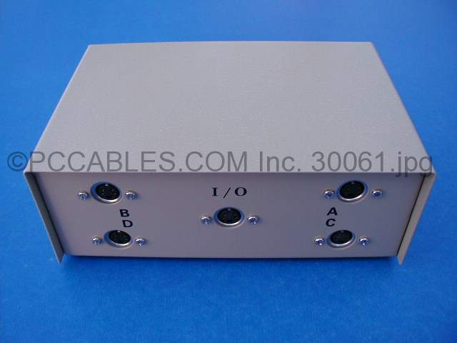 MINI DIN4 SVHS SVIDEO SWITCH ABCD