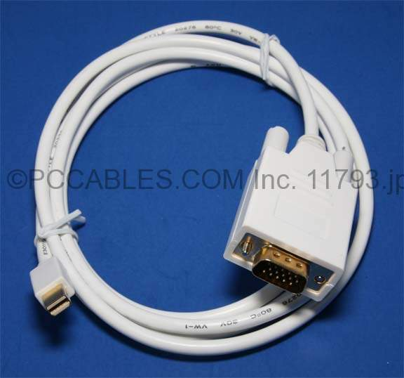 Mini-DisplayPort to VGA Cable 6FT