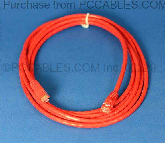 NETWORK CROSSOVER CABLE 10FT RED RJ45 CAT-5e