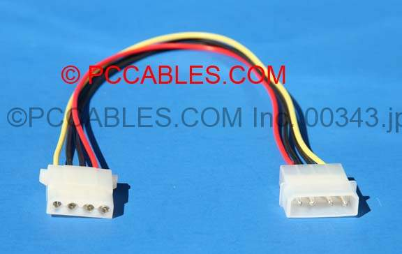 POWER CABLE EXTENSION 5.25 MOLEX 12 Inch