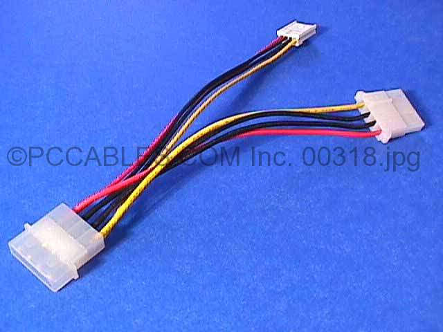 Power Cable Y 5.25 TO 3.5 5.25