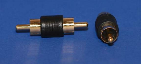 RCA-Male to RCA-Male Adapter Gold